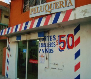 Barber shop, Playa Del Carmen, haircuts