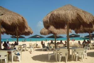 Mayan palapas Playa del carmen