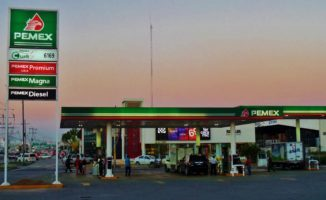 Pemex Gas station in Mexico Playa Del Carmen