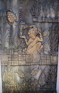 Mayan sculpture in Playa Del CArmen