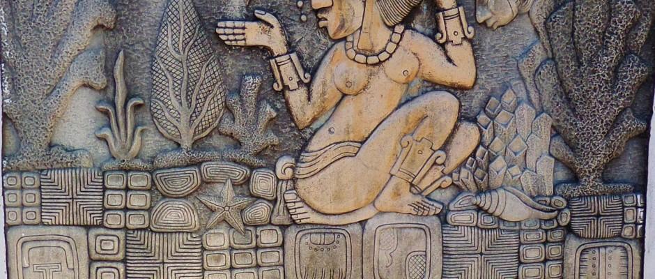 Mayan mural in Playa Del Carmen