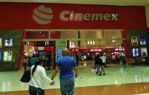 Movie theather in Playa Del Carmen Mexico