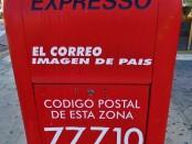 Mexican mail box in Playa Del Carmen