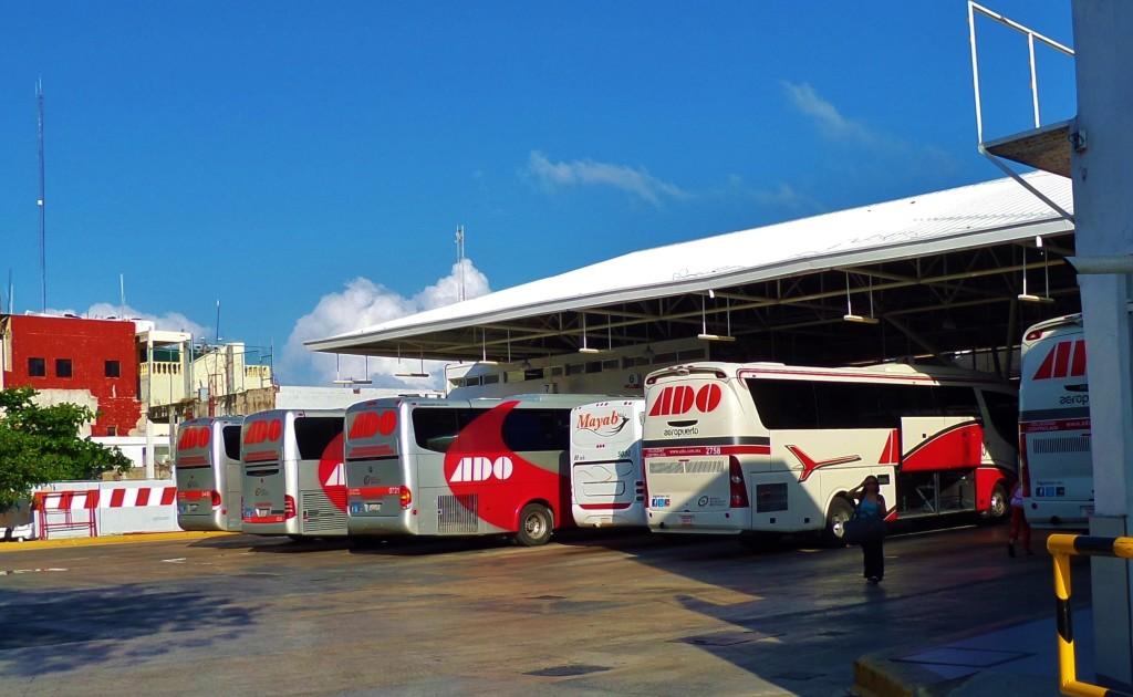 Playa Del Carmen downtown bus station