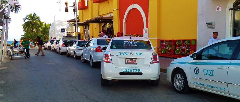 Playa Del Carmen taxi stand