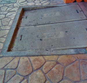 Sidewalk in Playa Del Carmen
