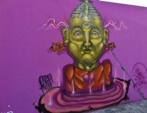 Street art murals in Playa Del Carmen