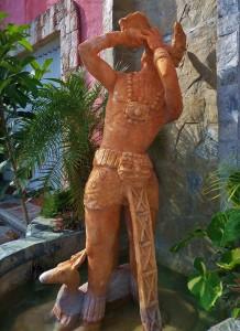 Mayan statue Playa del Carmen