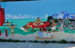 Mural, Street art graffiti Playa del Carmen, Mexico