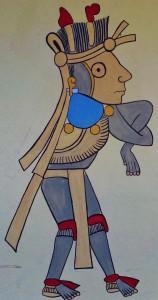 Mayan painting in Playa Del Carmen