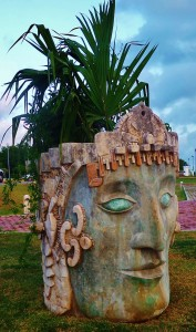 Mayan Statue Play Del Carmen