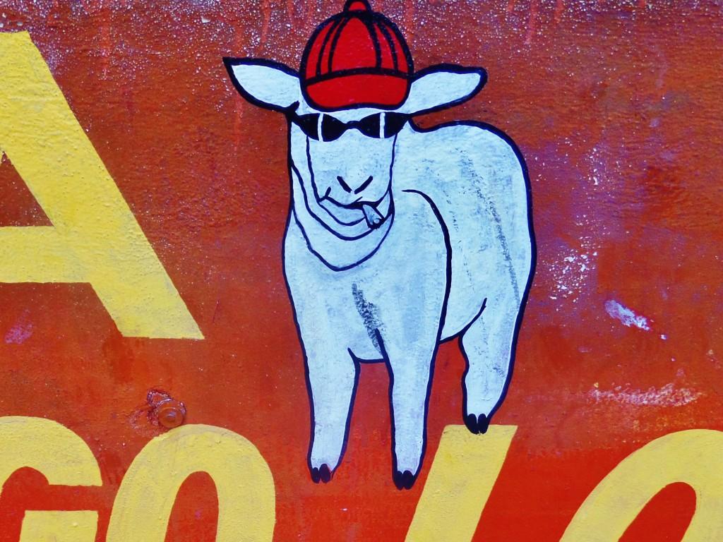 cartoon advertising in Playa Del Carmen