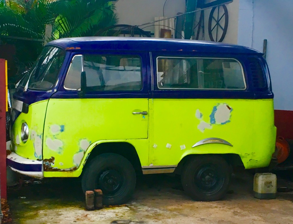 Tiny van in Playa Del Carmen