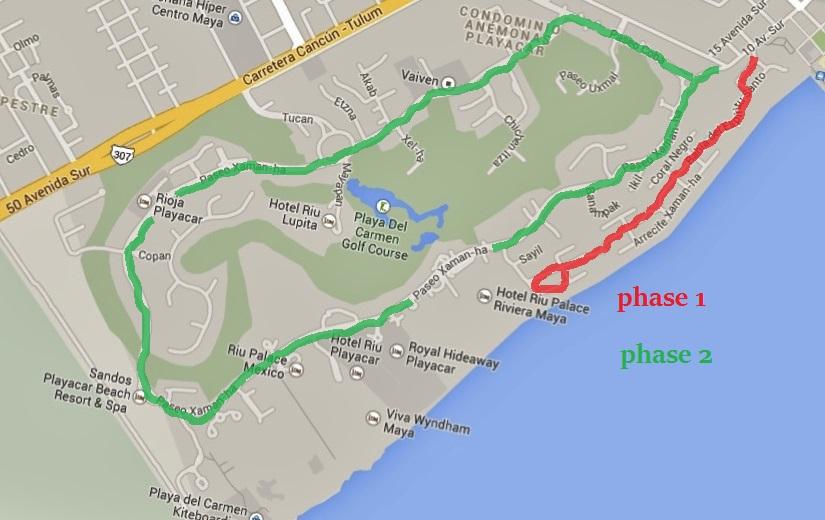 Bike Map, playa del carmen