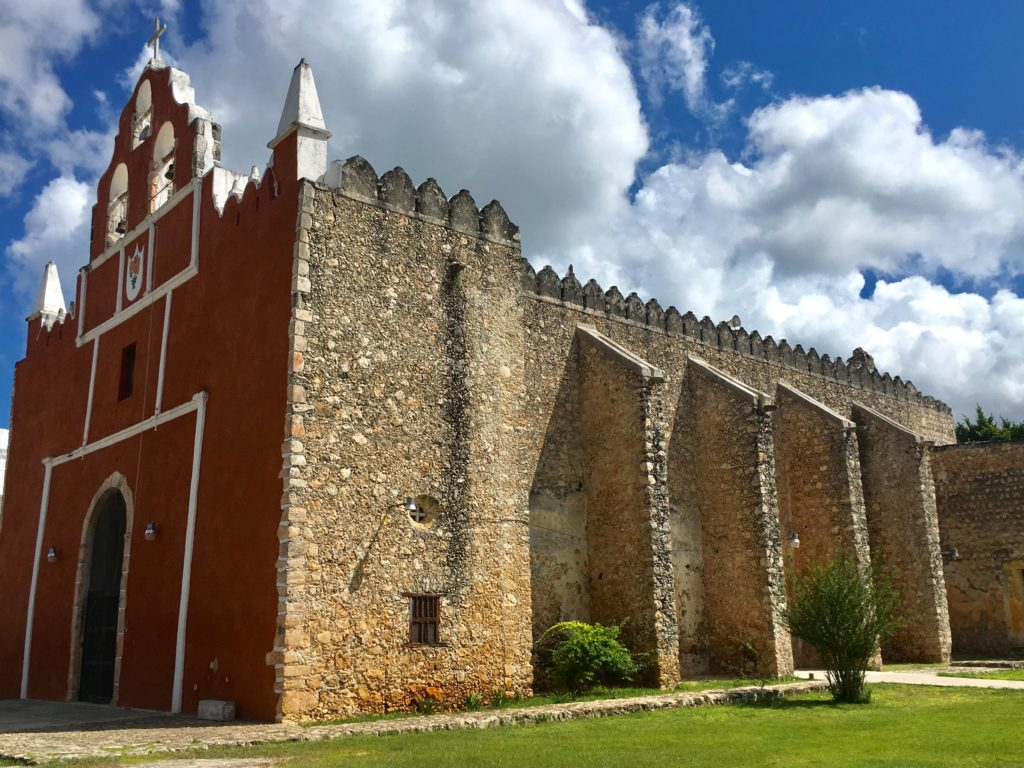old Churches Yucatan Mexico Dzitas Yucatan