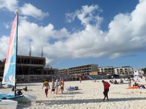 New Hyatt Hotel on the beach