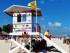 Beach and lifeguard in Playa Del Carmen