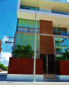 Modern building in Playa Del Carmen