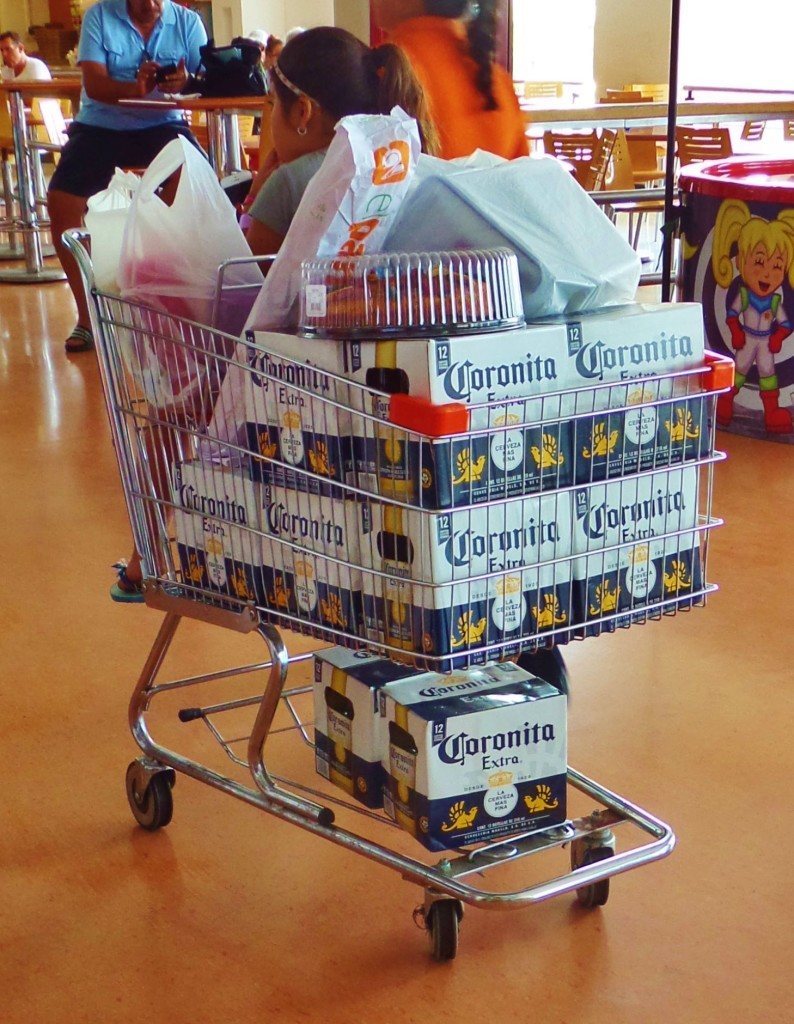 beer in shopping cart