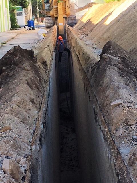 Construction in Playa Del Carmen, Mexico