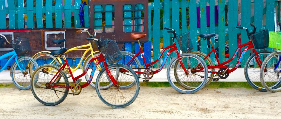 bicyling on Holbox Island