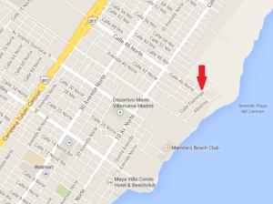coco beach eco market playa del carmen map