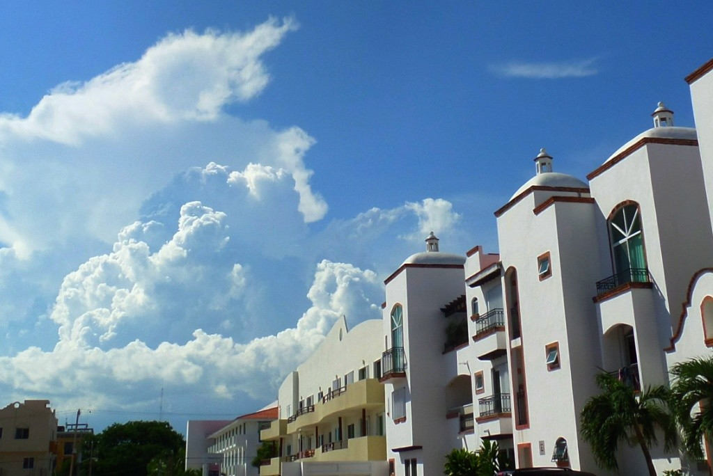 clouds and sky in Playa Del Carmen Mexico