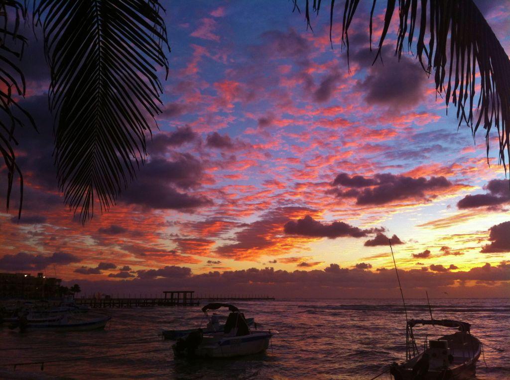 Playa Del Carmen Sky and clouds