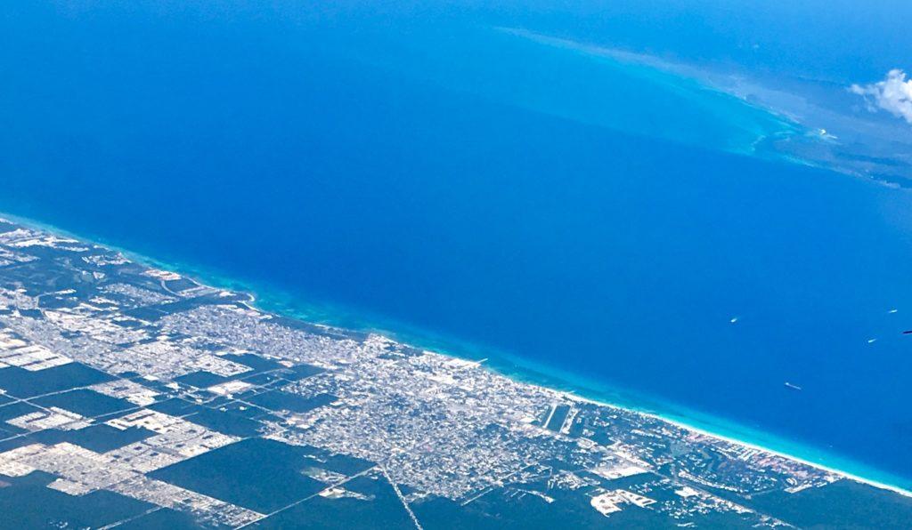 Aerial view Playa Del Carmen