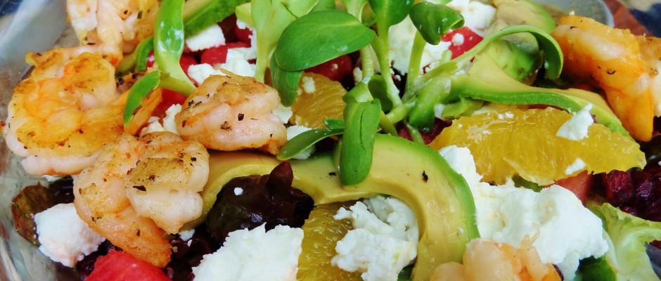 Ula Gula Restaurant, Playa Del Carmen, 5th Avenue, salad