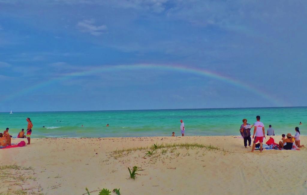 Playa Del Carmen, Rainbow, beach sky