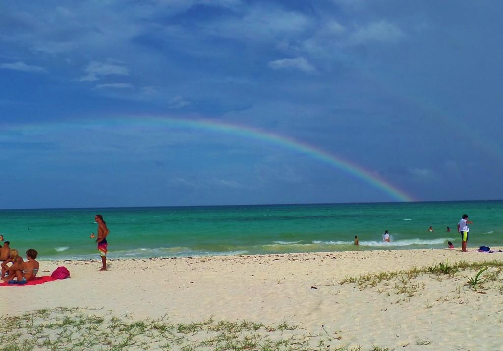 Playa Del Carmen, rainbow, sky beach