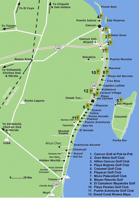 How to Take the Colectivos to Tulum or Cancun - Everything Playa Del Cancun Riviera Maya Map on
