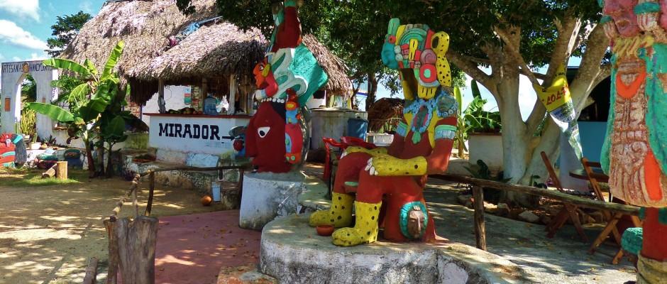 Mexico roadside, Yucatan, shopping