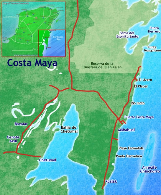 Mahahual Xcalak And Costa Maya Travel Information Everything: Where Is Costa Maya Mexico On The Map At Infoasik.co