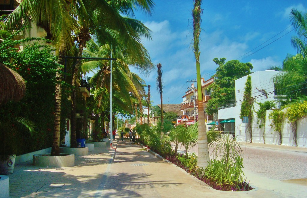 Playa Del Carmen Mexico 10th Avenue bike path