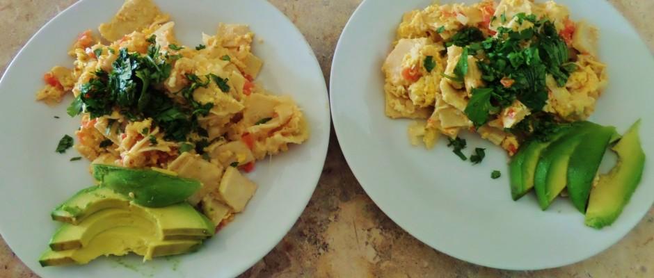 Eggs, Breakfast, Mexico, Tortilla. Expat cooking
