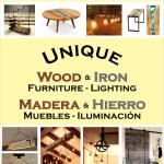 Unique Wood and Iron Furniture Playa Del Carmen