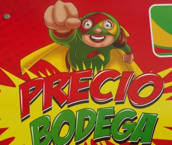 Cartoon advertisement in Playa Del Carmen Mexico