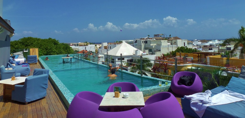 Rooftop pools Playa Del Carmen