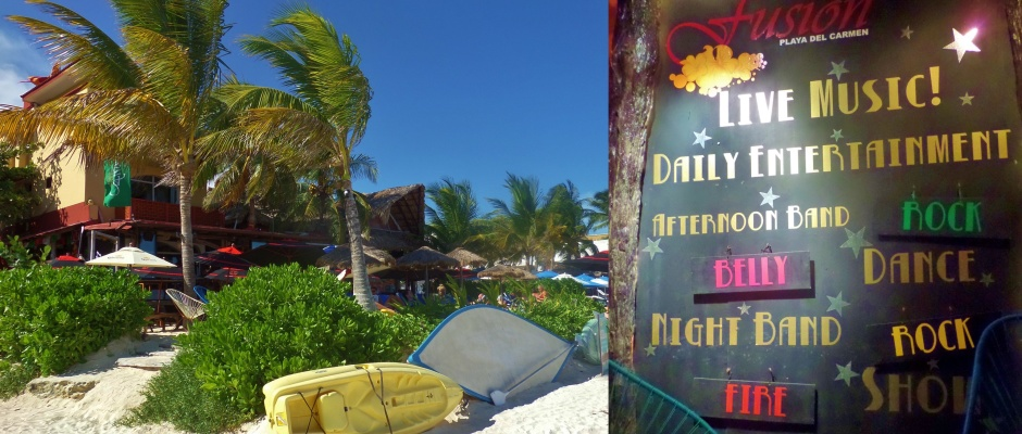 Fusion Beach Bar and Restaurant in Playa Del Carmen