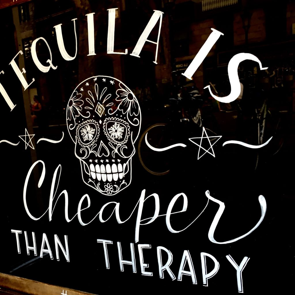 funny tequila sign in Mexico