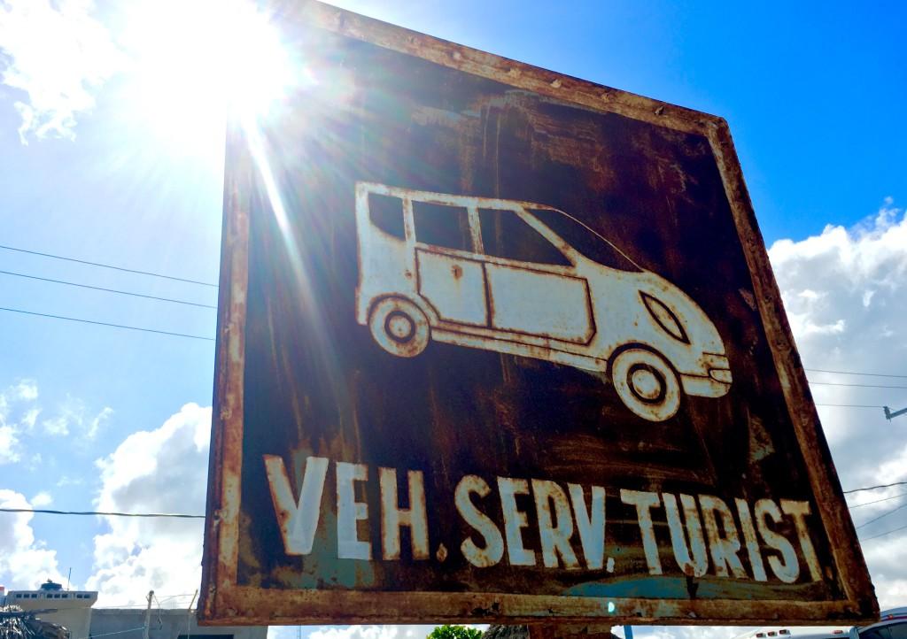 Funny signs Playa Del Carmen Mexico