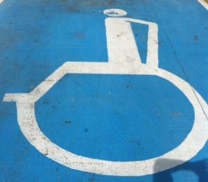 wheel chair sign in Playa Del Carmen