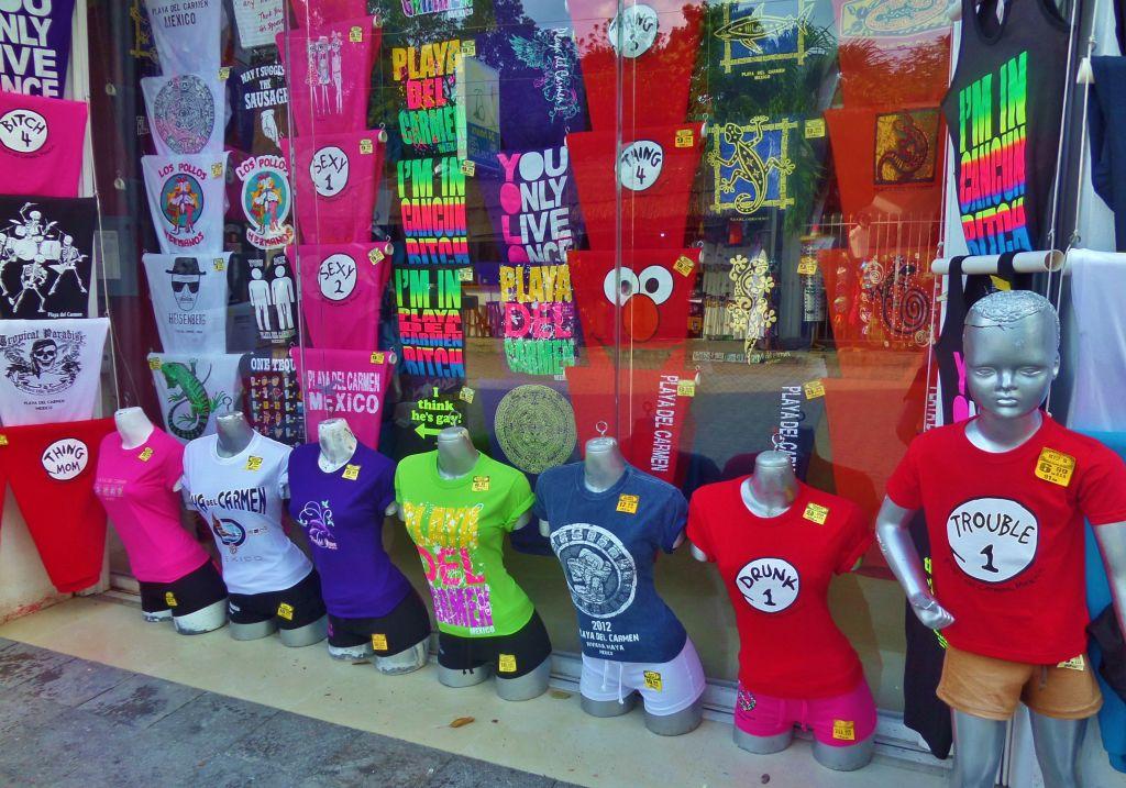 Tacky souvenirs in Playa Del Carmen