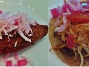 Mexican food kibis and panuchos