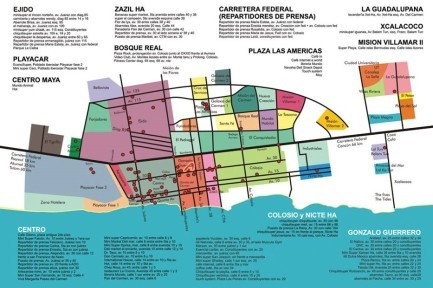 Playa Del Carmen Maps