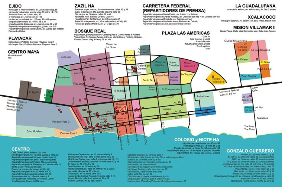 playa del carmen maps and helpful guides