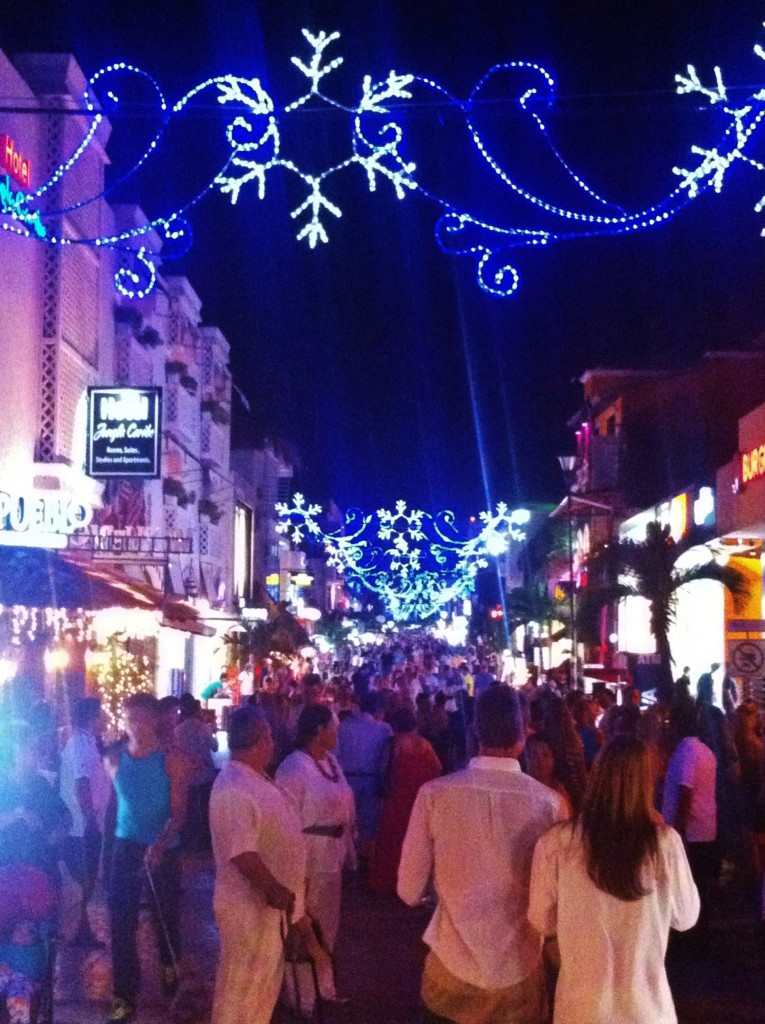 Linghts on 5th Avenue in Playa Del Carmen