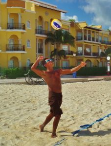 Volleyball at Royal Hotel